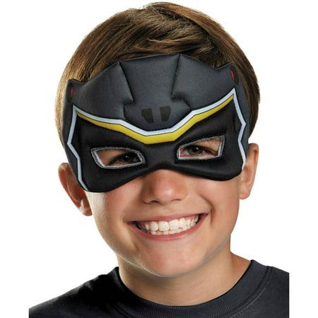 Black Ranger Dino Charge Puffy Mask Child Halloween Accessory Kids Black Ranger Vest