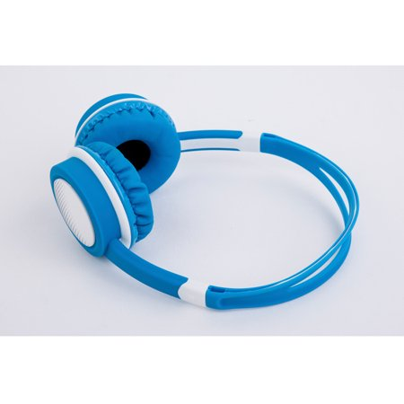Headphones 3.6mm High fidelity sound quality Adjustable Noise Isolation Headsets for Laptop, Mac, iPhone and Most Android Phones Blue and Yellow