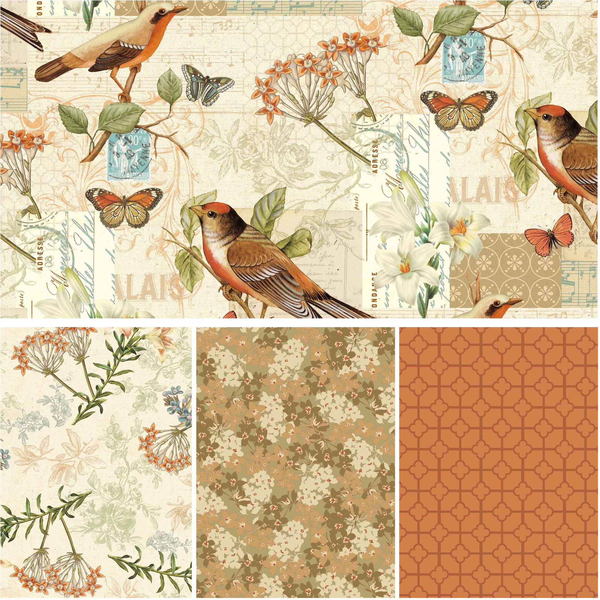 "David Textiles Oak Avenue Collection 44"" Cotton Fabric By The Yard"