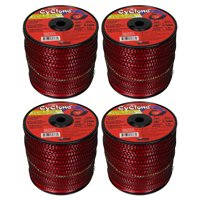 """Cyclone CY105S3 0.105"""" x 690' Commercial String Trimmer Line Red (4-Pack), Made in the USA"""