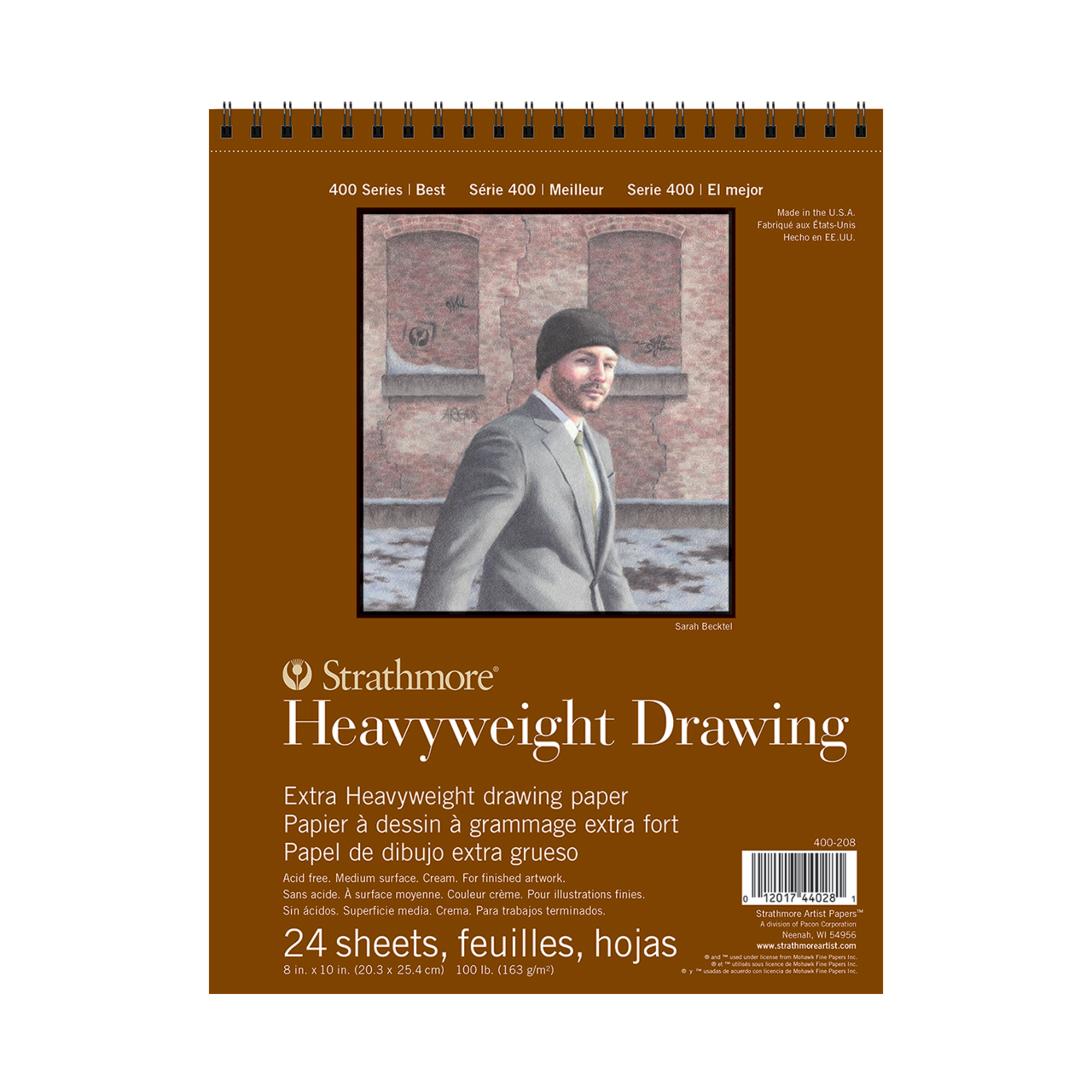 Strathmore Drawing Paper Pad, 400 Series, 24 Sheets, 8in x 10in