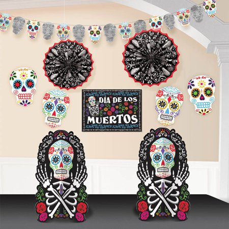 Day of the Dead Room Decorating Kit - Halloween Party Supplies - Halloween Party Day