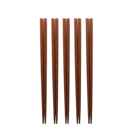 Set of 5, The Elixir Eco Green Premium Jujube Wood Chopsticks, 7.75 inches Reusable Wooden Chopsticks for Eating Cooking