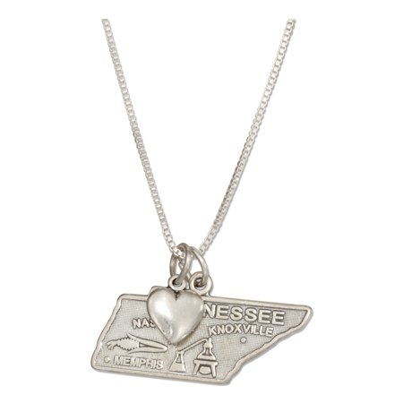 Sterling Silver Indiana State Charm (STERLING SILVER 18