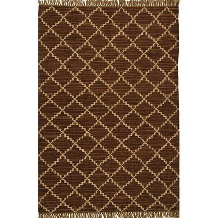Acura Homes Hand-woven Kilim Brown Wool/ Jute Rug (6