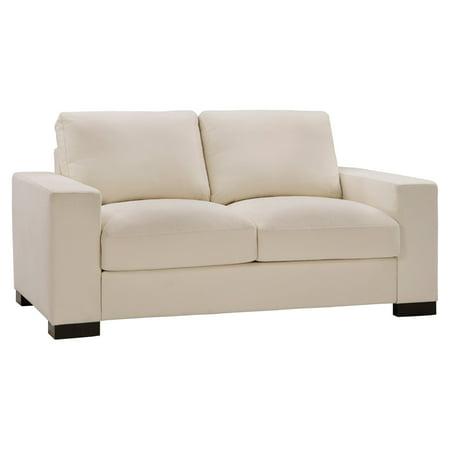 Super Weston Home Brock White Cotton Down Filled Loveseat Creativecarmelina Interior Chair Design Creativecarmelinacom