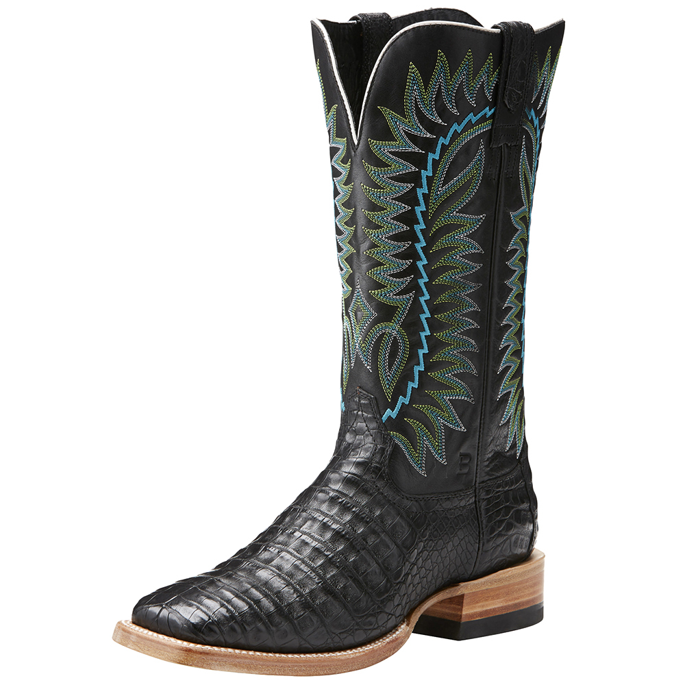 Relentless By Ariat Mens  Relentless Black Caiman Belly 1...