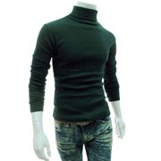 Men Winter Warm Knitted Turtleneck Pullover Jumper Casual Slim Fit Sweater Tops