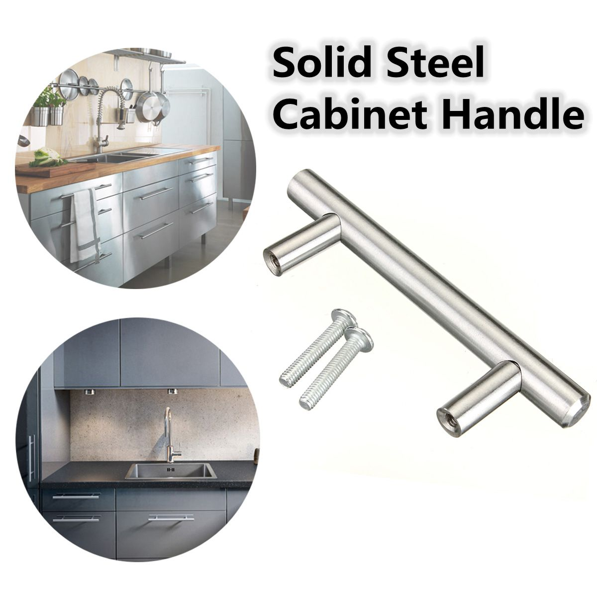 Stainless Steel T Bar Modern Kitchen Cabinet Door Handles: Stainless Steel T Bar Modern Cupboardhandle Kitchen