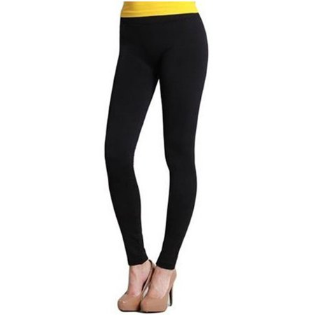 Womens Smooth Seamless Form Fitting Ankle Full Length Long Leggings (One (Best Fitting Black Leggings)