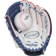 "Rawlings Players Series 9.5"" Youth Baseball/T-Ball Glove with Ball Combo, Right Hand Throw"