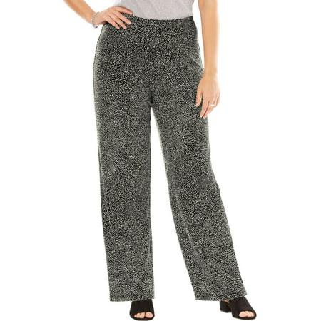 7038e3ec492 Woman Within - Plus Size Stretch Travel Pants - Walmart.com