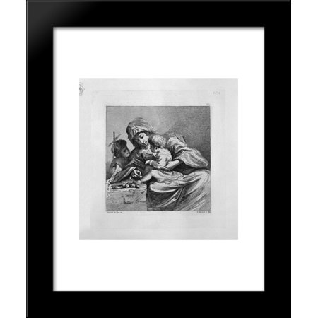 Virgin with Jesus and John the Baptist 20x24 Framed Art Print by ...