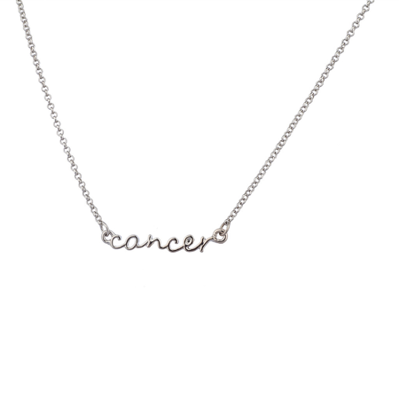 (Lux Accessories Horoscope Zodiac Sign Cancer Silver Necklace)