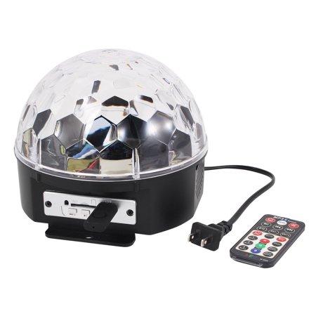 US Plug Disco MP3 Bluetooth RGB Crystal LED Magic Ball Light w Remote - Disco Light Controller