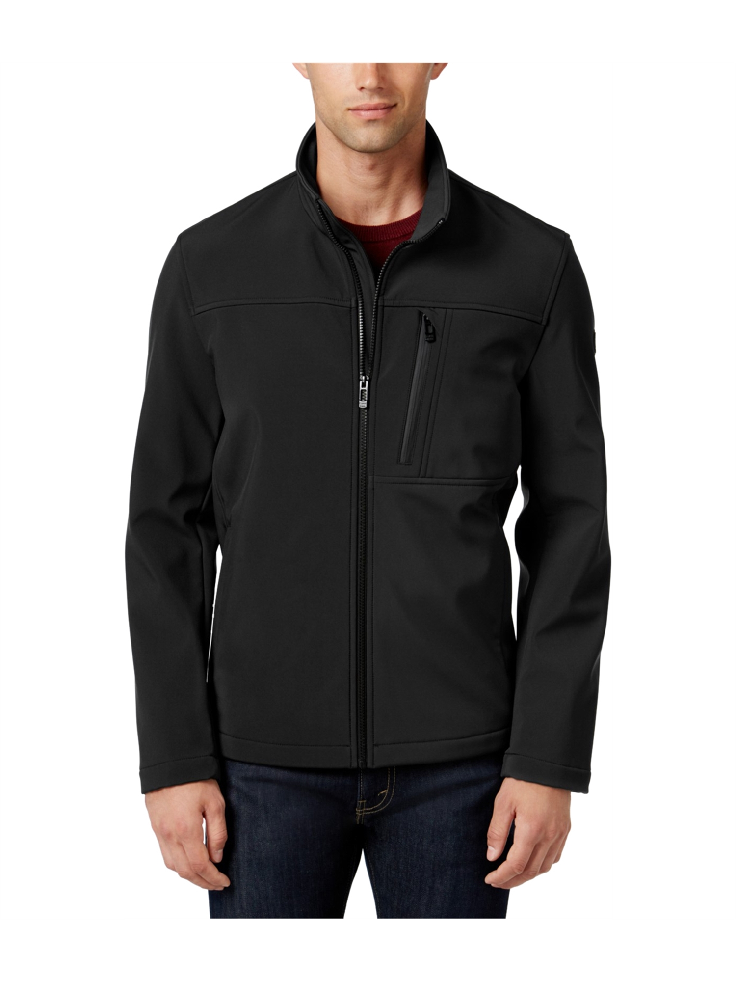 6714683a7ee Calvin Klein Mens Softshell Fleece Jacket blk LT - Big   Tall
