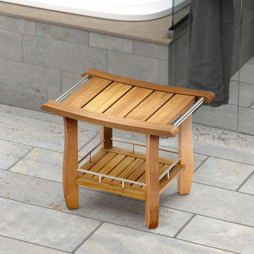 Gatco Teak Fully Assembled Rectangle Shower Seat