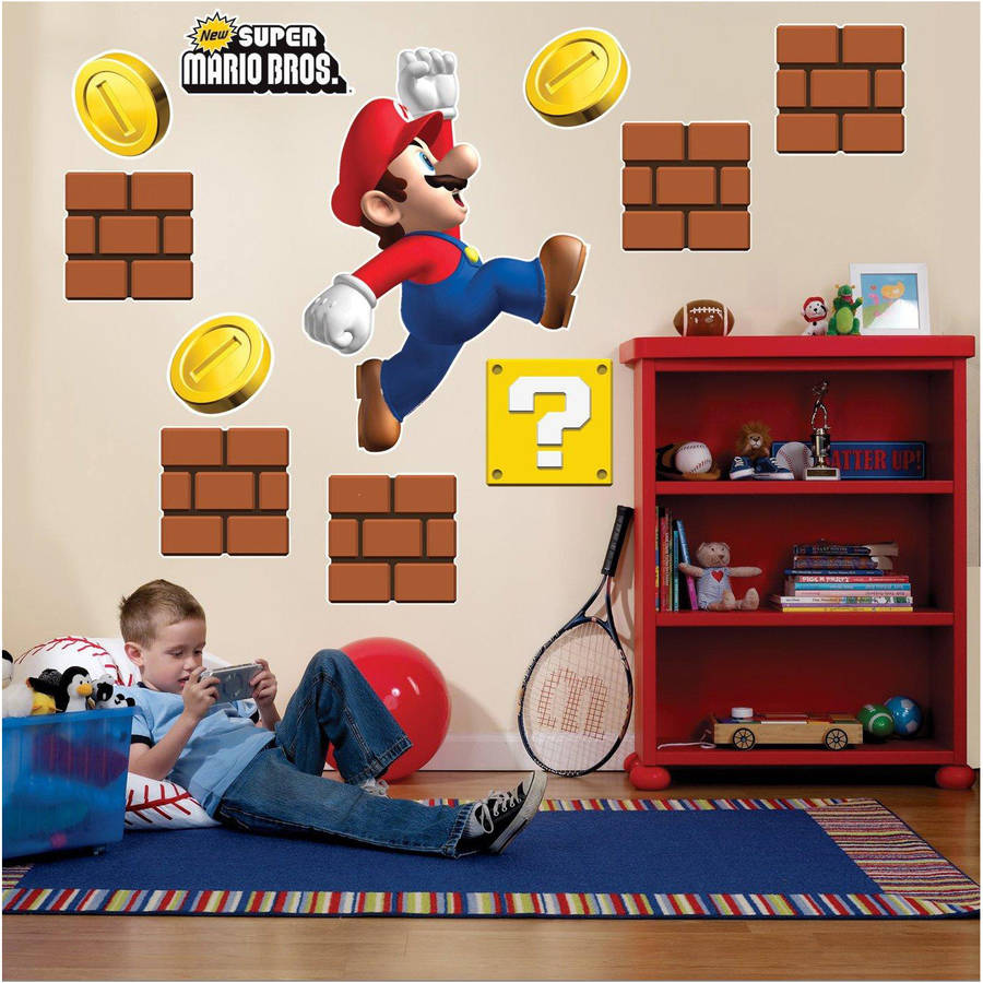 Super Mario Bros. Giant Wall Decals - Walmart.com