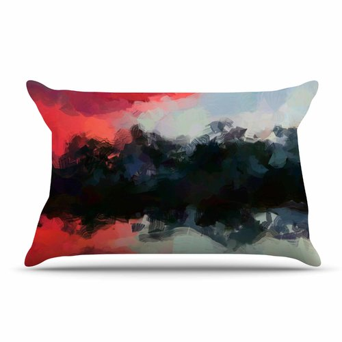 East Urban Home Oriana Cordero 'Days Of Summer' Rainbow Abstract Pillow Case