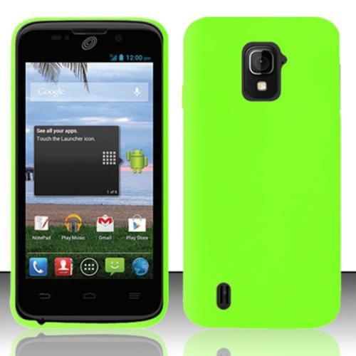 Insten For ZTE Majesty Z796c StraightTalk Silicon Skin Premium Case Neon Green SC