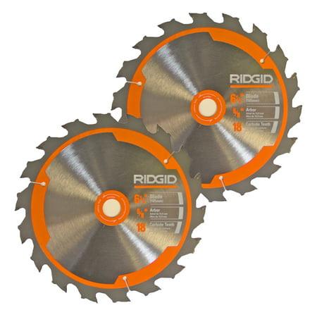 Ridgid R8651/R32031 Saw (2 Pack) 6- 18T Carbide Blade # 681444002-2PK