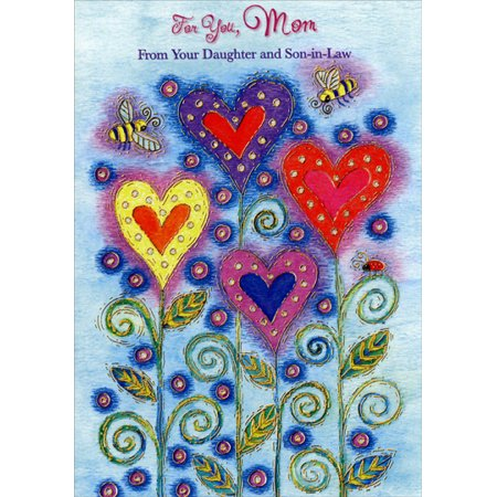 - Designer Greetings Heart Shaped Flowers: Mom Mother's Day Card