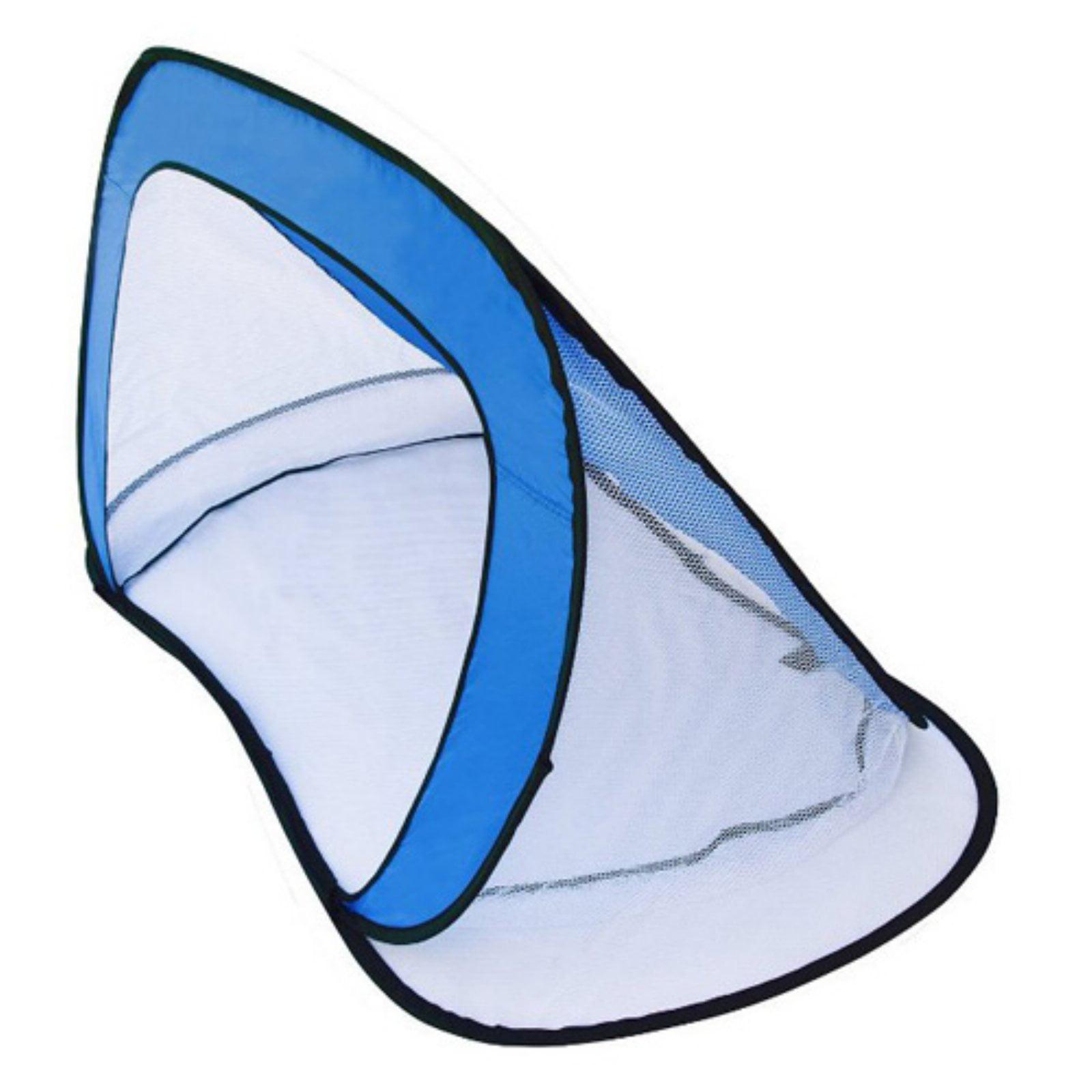 "ALEKO 2PUSG03 Portable Pop-Up Soccer Goal and Net with Carry Bag, 28"" x 52"", Set of 2, Blue"