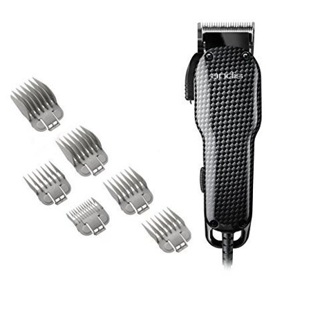 Andis All-in-One Professional Powerful Lightweight Barber Shop Hair Cut Salon Adjustable Blade Clipper Trimmer (Best Professional Barber Clippers Set)