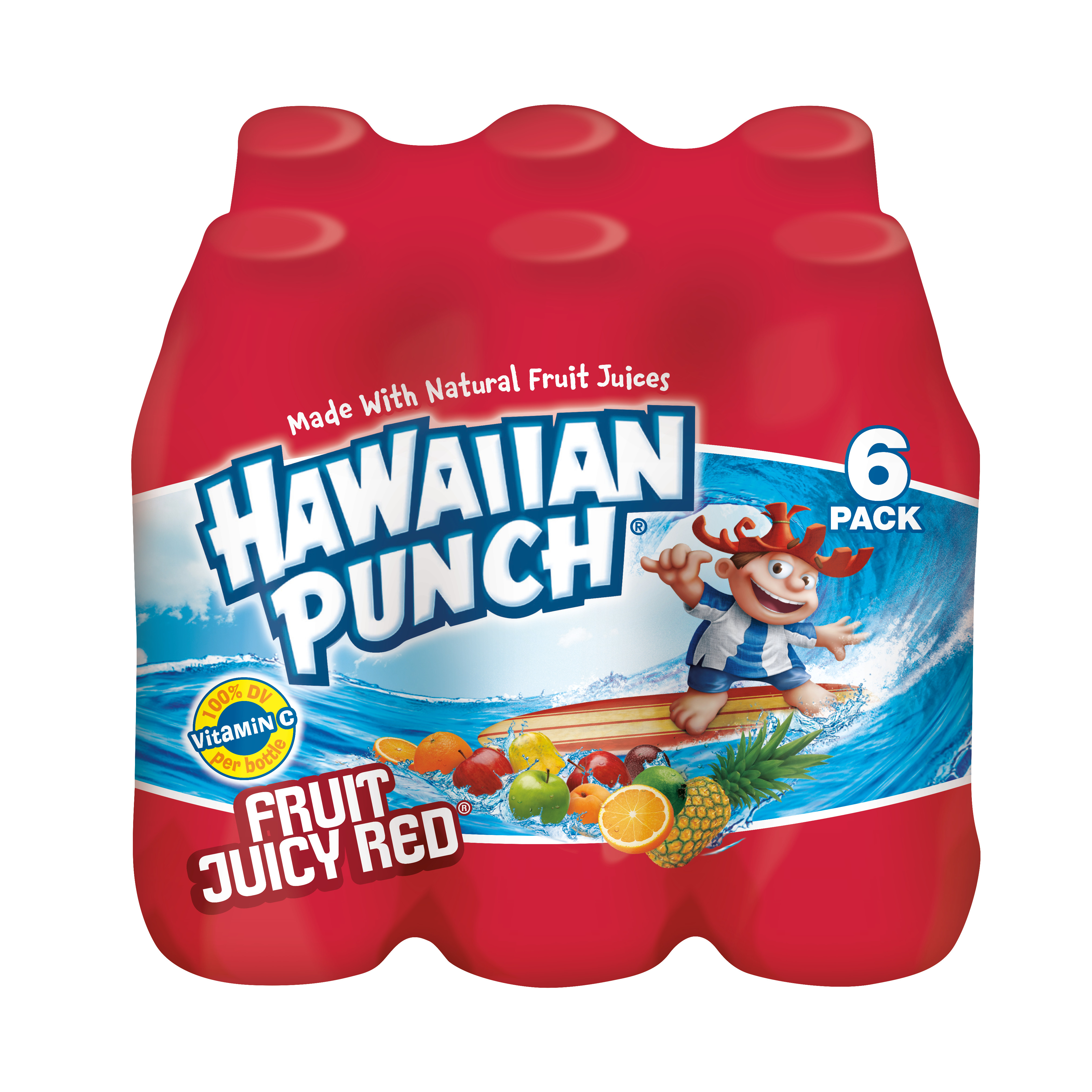 Hawaiian Punch Fruit Juicy Red, 10 fl oz, 6 pack