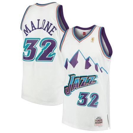 save off 21db8 3e462 Karl Malone Utah Jazz Mitchell & Ness 1996-97 Hardwood ...