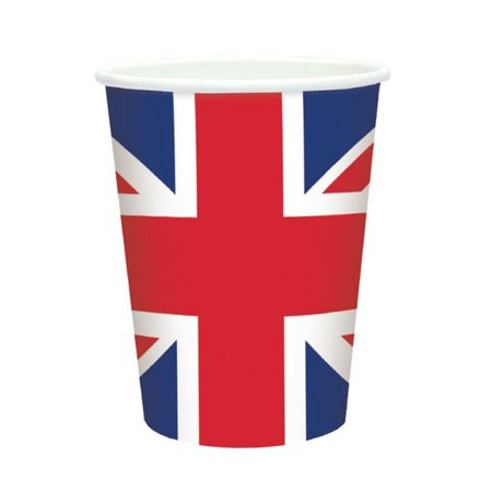 Jack Cup (UNION JACK Paper Cups 8 Packs - Great Britain )