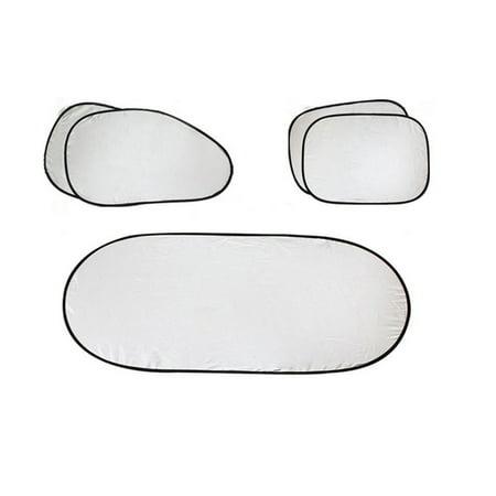 Car Folding Sun Visor Silver Reflective Windshield Window Visor Shield Cover Suction Cup Car Sun Visor Sun Protection Curtain - image 1 of 6