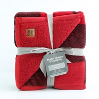 Better Homes&gardens Oversized Sherpa Throw - Red Buffalo Pla