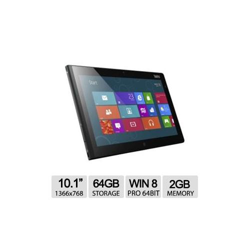 "Lenovo 10.1"" ThinkPad Tablet 2 36795HU - Windows 8 Pro, 64GB Storage, 2GB Memory"