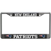 New England Patriots Carbon Small Over Large Metal Acrylic Cut License Plate Frame