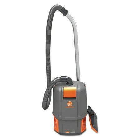 Hoover Commercial HushTone Backpack Vacuum Cleaner, 11.7 lb., Gray/Orange -HVRCH34006