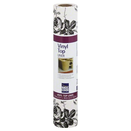 Magic Cover Vinyl Top Non Adhesive Shelf Liner 12 Inch By