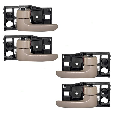 4 Piece Set of Inside Interior Door Handles Beige / Fawn Replacement for Toyota SUV Pickup Truck 69206-0C030-E1