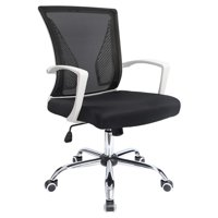 Walnew Office Chair Mid Back Swivel Lumbar Support Desk Chair Computer Ergonomic Mesh Chair with Armrest (White)