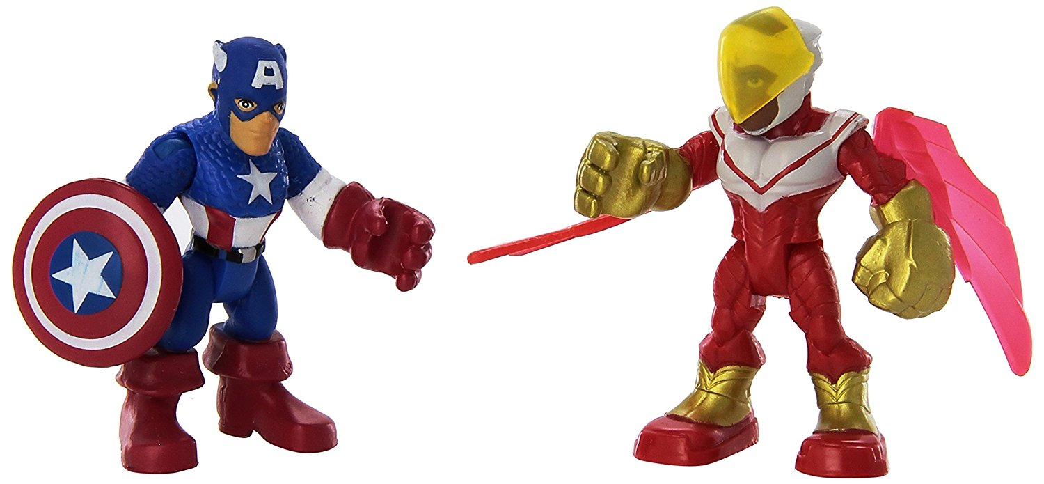 Heroes Super Hero Adventures Captain America & Marvels Falcon Toy, Little heroes can... by