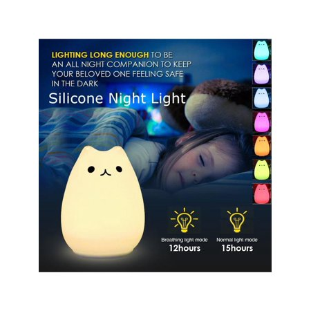 Led Nursery Night Lights For Kids Cute Animal Silicone Baby Light With Touch Sensor Portable And Rechargeable Infant Toddler 8 Colors