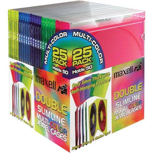 Maxell Cd-392 Double Slim Color Jewel Case - Jewel Case - Book Fold (MAX190131)