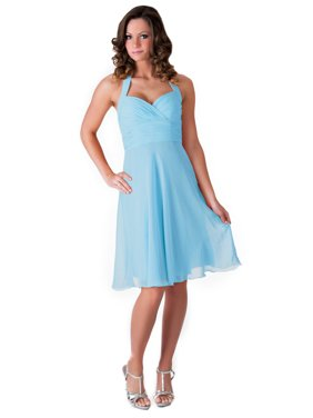 53a04e868c2 Product Image Faship Womens Elegant Halter Pleated Formal Dress