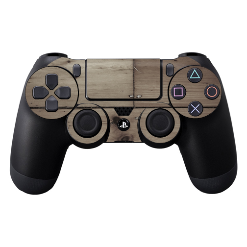 Protective Vinyl Skin Decal Cover for Sony PlayStation DualShock 4 Controller wrap sticker skins Wooden