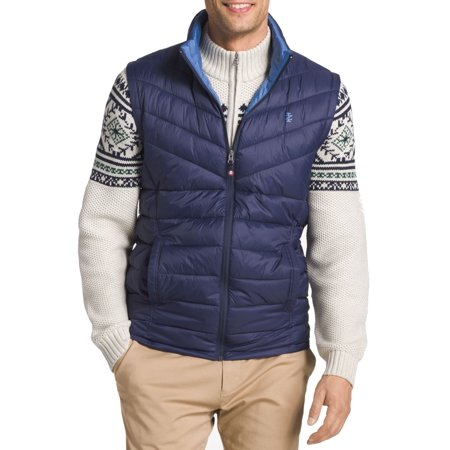 - IZOD NEW Blue Mens Size 2XL Advantage Puffer Vest Full-Zip Jacket