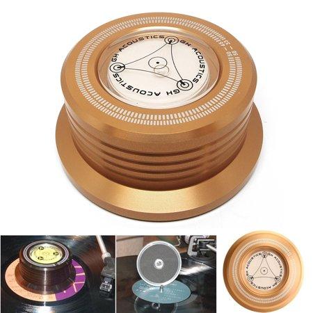 3-in-1 Record Clamp LP Disc Stabilizer Turntable Vibration Balanced Golden ()