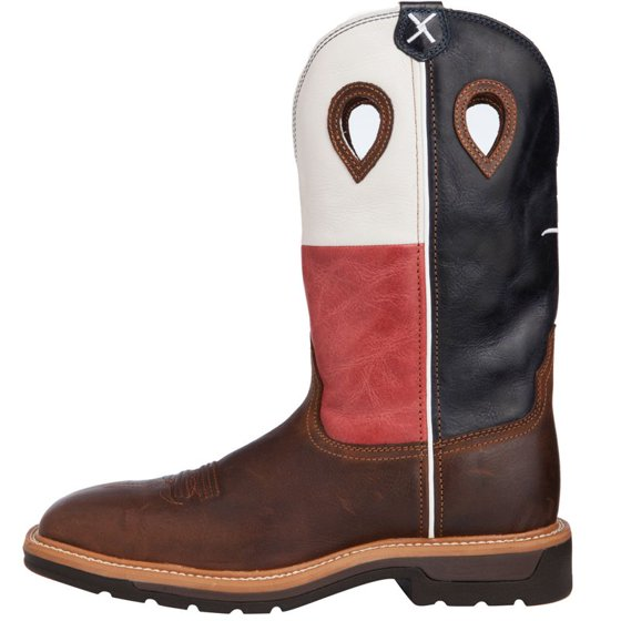 5b07f3a47ad Twisted X Boots Mens Texas Flag Steel Toe Lite Weight Cowboy Work Boots