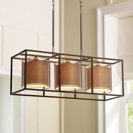Possini Euro Design Conroe Bronze Metal Cube 37