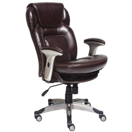 Kingfisher Lane Bonded Leather Office Chair in Chocolate ()