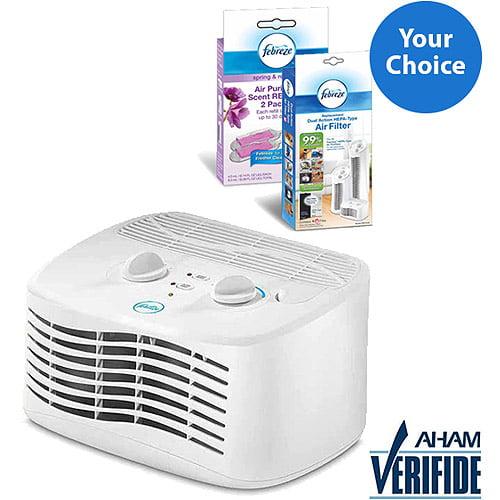 Febreze Tabletop Air Purifier, White, FHT170W Solution Bundle